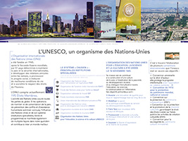 Panneau 2 : l'UNESCO, un organisme des Nations-Unies